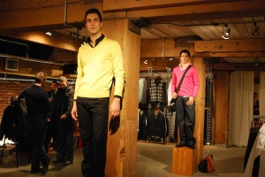 Studly models at Lloyd's of Gastown.