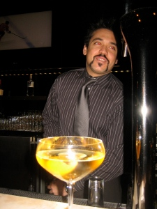 Jay Jones and one of his Voya concoctions.