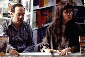 Paul Giametti and Hope Davis as Pekar and Babner in the 2003 movie American Splendor.