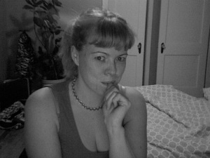 In my pyjamas in the lair from which I'll be writing!