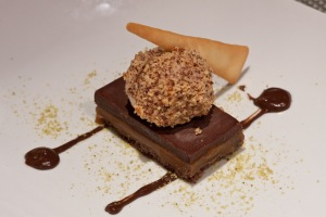 The chocolate carmel tart at Circa 59, the Riviera Resort and Spa.