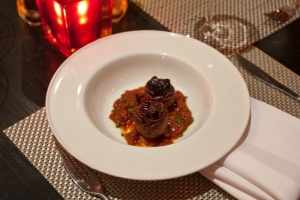 Chorizo-stuffed medjool dates at Circa 59, the Riviera Resort and Spa.