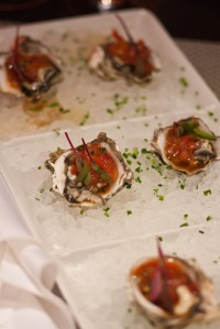 Oysters at Circa 59, the Riviera Resort and Spa.