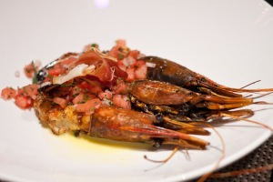 Spot prawns at Circa 59, the Riviera Resort and Spa.