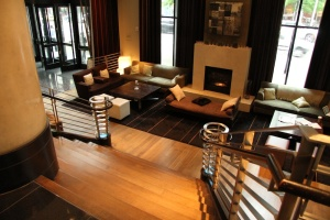 "The W Hotel Seattle's ""living room"". Robyn Hanson photo"