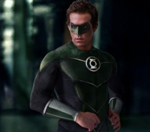 Ryan Reynolds in the movie version of the DC Comics superhero Green Lantern.
