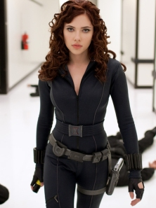 Scarlett Johansson as Black Widow in Iron Man II.